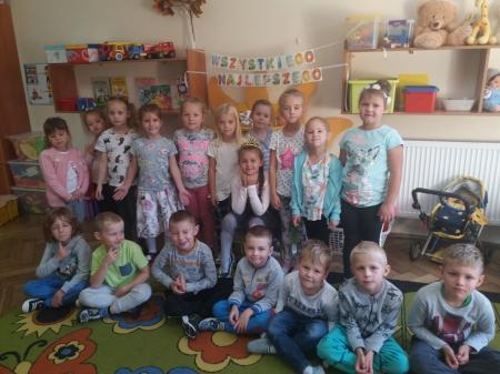 Urodzinowe słoneczko wg Marii Montessori dla  Nadii